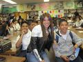 Milka speaking to students at Hollenbeck Middle School in East Los Angeles, California