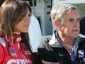 Milka with Al Unser at her historic 2007 Indianapolis 500